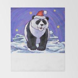 Panda Bear Christmas Throw Blanket