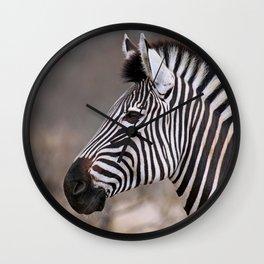 The Zebra - Africa wildlife Wall Clock