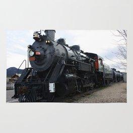 Vintage Railroad Steam Train Rug