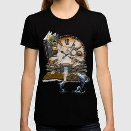 Steampunk Ocean Dragon Library T-shirt