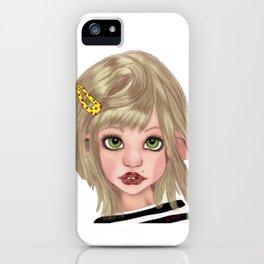 Big eyes Pierced pixie girl iPhone Case