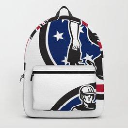 American Tree Surgeon USA Flag Icon Backpack