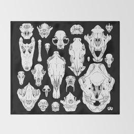 Skull Grid Throw Blanket