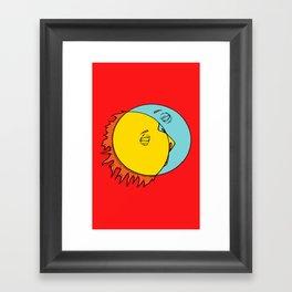Perfect Collide Framed Art Print