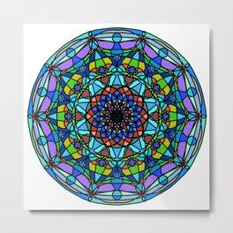Vector indian Mandala Metal Print