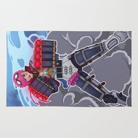 league Area & Throw Rugs featuring League of Legends: Vi by Arnix