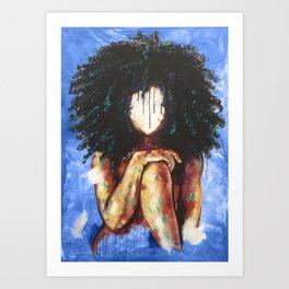 Naturally I BLUE Art Print