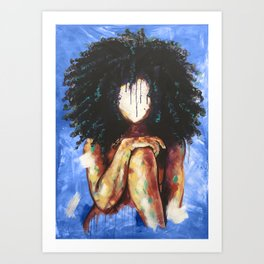 Naturally I BLUE Art Print