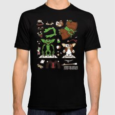 Dress up Gizmo and Gremlin Mens Fitted Tee Black LARGE