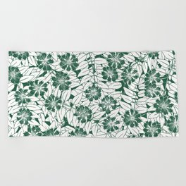 Foliage green Beach Towel