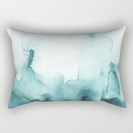 Soft teal abstract watercolor Rectangular Pillow