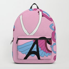 medical caduceus and stethoscope, pink Backpack