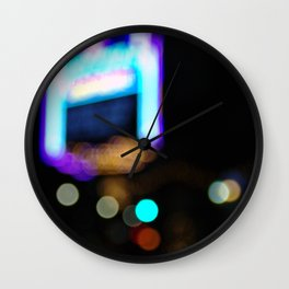 Lights by Night Wall Clock