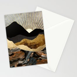 Copper and Gold Mountains Stationery Cards