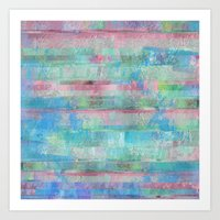 Pastel Glitch Forest Art Print