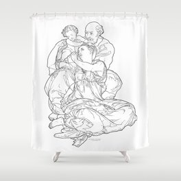 Doni Tondo or Doni Madonna, sometimes called The Holy Family - Michelangelo Shower Curtain