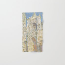 Claude Monet - Rouen Cathedral, West Façade, Sunlight Hand & Bath Towel
