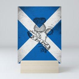 SCOTLAND FLAG JE SUIS PREST Mini Art Print