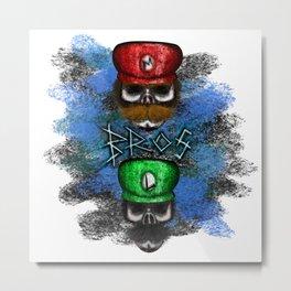 Brothers Style Errorface skulls Metal Print