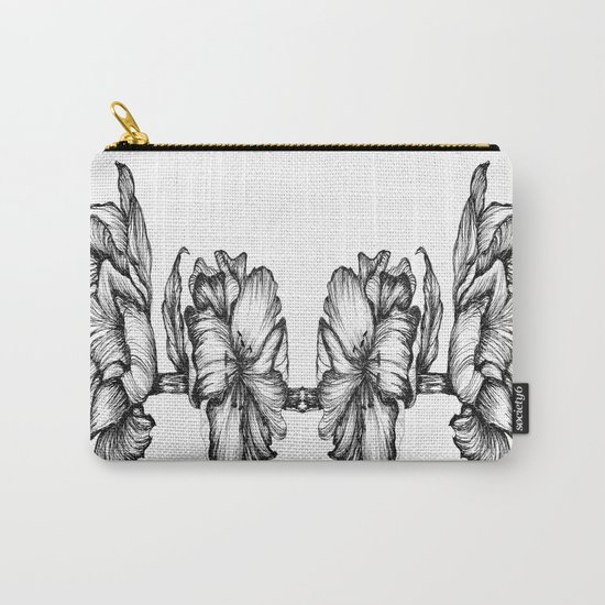 Floral ink II Mirror Carry-All Pouch