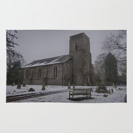 Dunkirk Church In Winter Rug