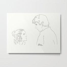 Han Leia Metal Print