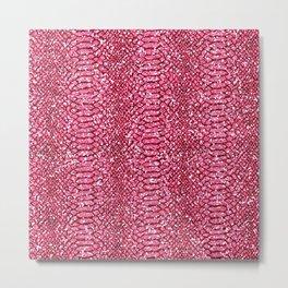Pink Animal Print Sparkle Metal Print