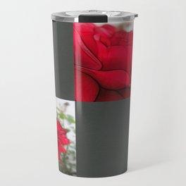 Red Rose Edges Blank Q6F0 Travel Mug