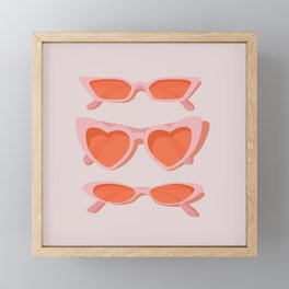 rose tinted Framed Mini Art Print