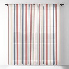 Primarily Pinstripes Sheer Curtain