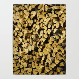 Wood Pile Painterly Poster