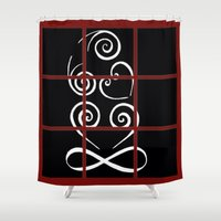 tiki Shower Curtains featuring Tiki by Alison McLean