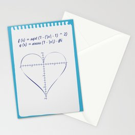 Love Equation Stationery Cards