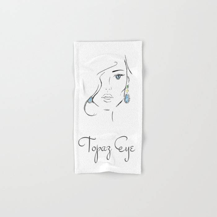 Topaz eye Hand & Bath Towel