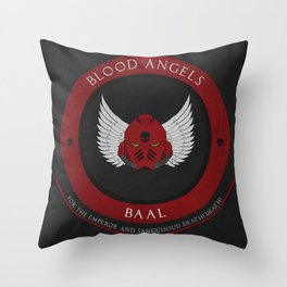 Blood Angels Style Throw Pillow