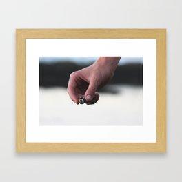 SHELL HAND Framed Art Print
