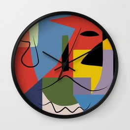 Abstract composition dali Wall Clock