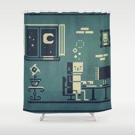 Screenstruck graphic illustration Shower Curtain