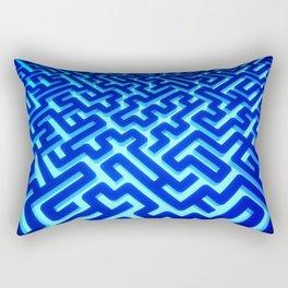 Maze Blue Rectangular Pillow
