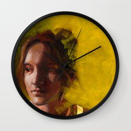 Megan, Fine Art Oil Painting Portrait Print Wall Clock
