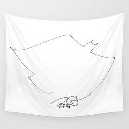 Little boy, big dreams Wall Tapestry