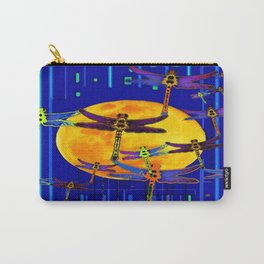 Dragonflies Moon Fantasy Blue Art Abstract Carry-All Pouch