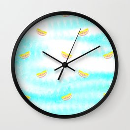 Tie Dye Lemons Wall Clock