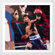 Manny Pacquiao aka Kamao Ng Bayan Art Print