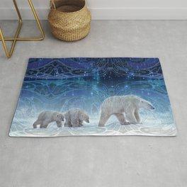 Arctic Journey of Polar Bears Rug