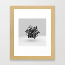 Caged Stellated Dodecahedron Framed Art Print