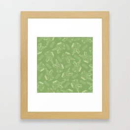 Hobby Horse (Green) Framed Art Print