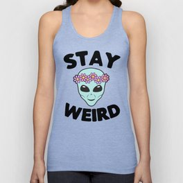Stay Weird Alien Head Unisex Tank Top