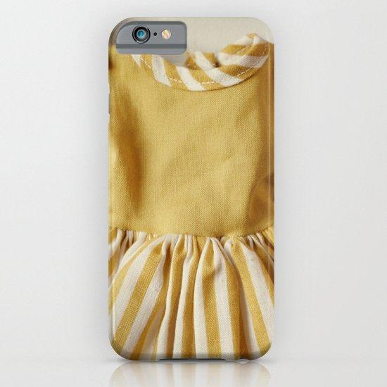 Doll Closet Series - Mustard Stripe Dress iPhone & iPod Case