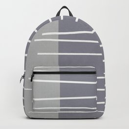 Mid century modern textured gray stripes Backpack